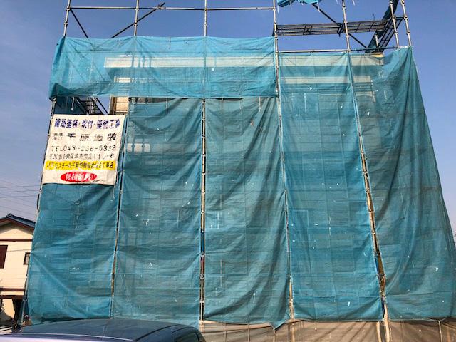 千葉市中央区蘇我町にて外壁工事1