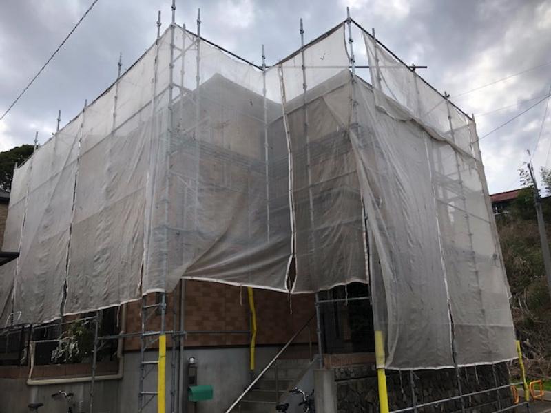【千葉市若葉区東寺山】K様邸の外壁塗装工事と屋根塗装工事は 外壁クリアー仕上げです