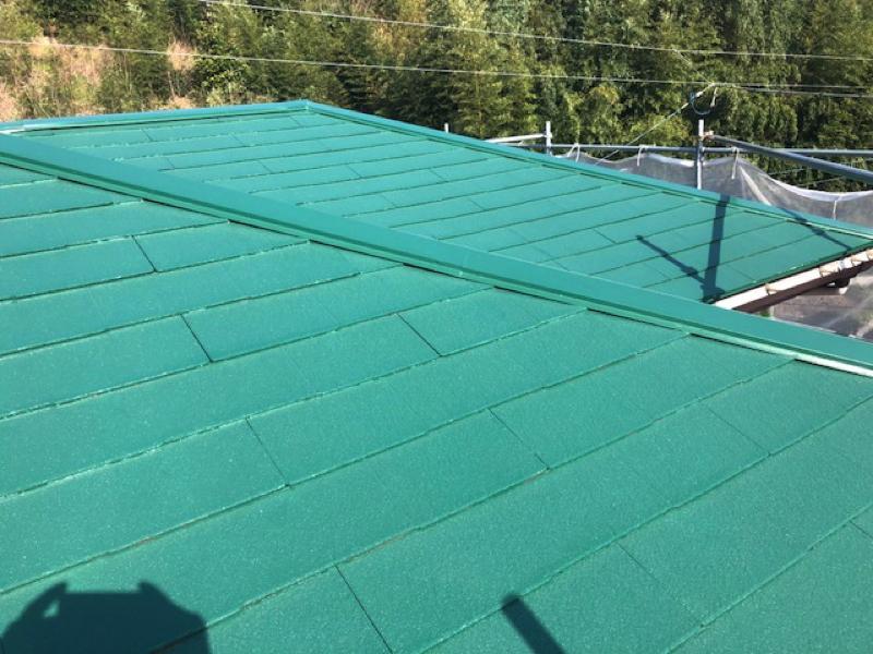 【千葉市若葉区東寺山】K様邸の外壁塗装工事と屋根塗装工事の屋根の仕上がりはこちら