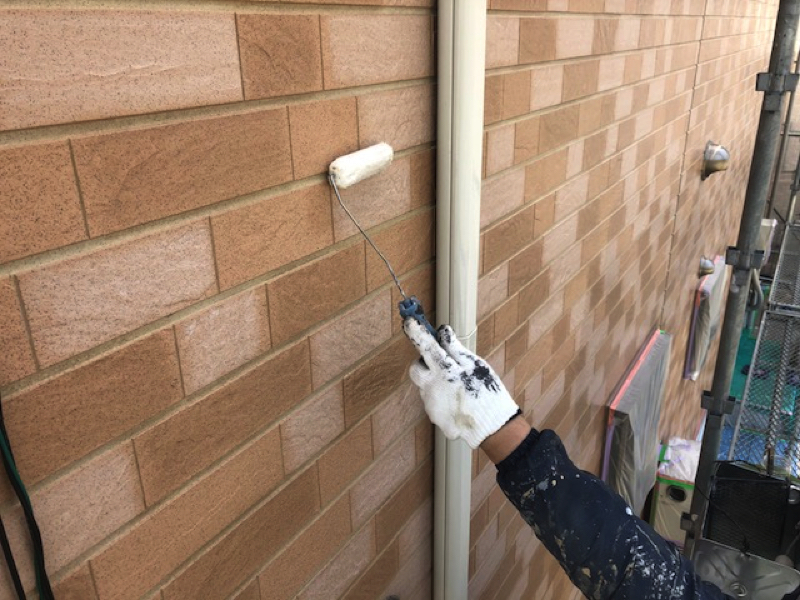 【千葉市若葉区東寺山】K様邸の外壁塗装工事でクリアー仕上げ。