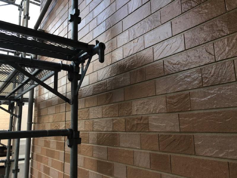 【千葉市若葉区東寺山】K様邸の外壁塗装工事はクリアー仕上げにしました。