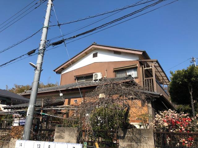 千葉中央区生実町にてT様邸の塗装工事前です。